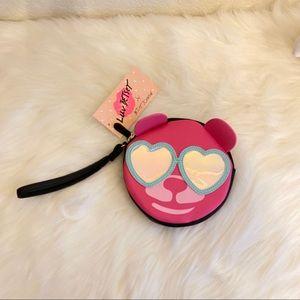NWT Betsy Johnson Pink Bear sunglasses wristlet